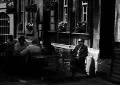 Waiting (helenc_england) Tags: street portrait blackandwhite bw bar canon pub bath waiting candid lonely 600d