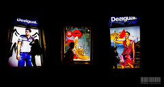 Barcelona... And the street becomes art (Arnau P) Tags: barcelona shadow silhouette night fotograf bcn sombra catalonia shopwindow silueta storewindow nit desigual aparador