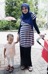 Mother and Daughter (Taqirumi) Tags: baby love parenthood child daughter mother hijab care motherhood motherslove regnant