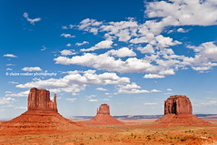 Monument Valley, Utah, USA (Claire Cordier) Tags: arizona usa nature rock horizontal clouds landscape outdoors photography utah butte day sunny bluesky nopeople valley monumentvalley majestic isolated scenics mittens eroded southwestusa rockformation traveldestinations naturallandmark beautyinnature placeofinterest nonurbanscene physicalgeography elevatedview horizonoverland nationalborder