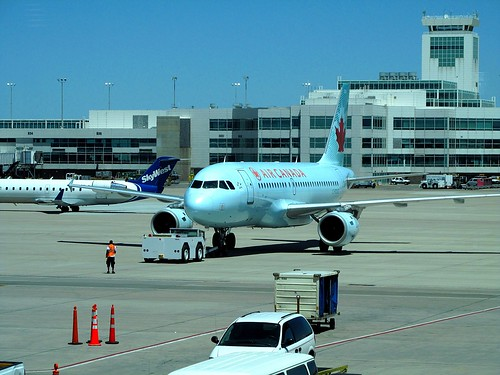 Aircraft Pushback -- Ready To Taxi -- Plane Spotting In Concourse A -- Air Canada -- Denver International Airport -- 2013