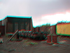 Chama, NM in 3d (CaptDanger) Tags: travel usa newmexico southwest america train canon photography photo 3d picture trains anaglyph tourist steam engines nm chama redblue traincars steamtrains trainhouse americansouthwest 3dimensional southwesternus oldtrains 3dimages locamotives chamanm anaglyph3d workingsteamengines
