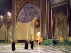 Mashhad late night pilgrimage (Germn Vogel) Tags: night shrine asia iran muslim islam middleeast courtyard mausoleum shia mashhad haram islamic iwan khorasan imamreza islamicrepublic westasia