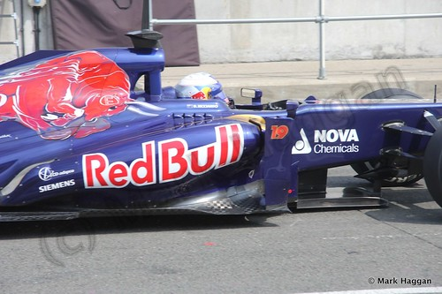 Daniel Ricciardo at the Formula One Young Driver Testing at Silverstone, July 2013