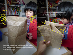Paperbag craft (bigbrownmonster) Tags: party monster daddy fun toy design education child handmade creative craft parent homemade gift kawaii handcrafted  recycle ideas paperbag   preschooler             stayathome         bigbrownmonster wilkietan