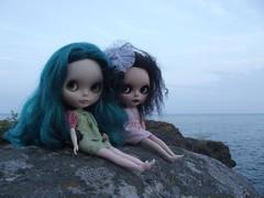 Tamarlayne and Faraday at Iona's Beach