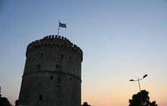 The White Tower (kutzz) Tags: sea summer sun mountains pine ferry port aegean olive siesta thessaloniki vacations ellada thassos greese limenaria theologos kaval limenas prinos kazavati