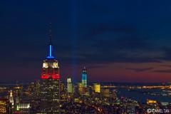 9/11 Tribute in Light (rtanphoto) Tags: nyc newyorkcity longexposure newyork brooklyn manhattan 911 empirestatebuilding empirestate bigapple topoftherock cs4 tributeoflight 911anniversary totr niksoftware rommeltan rtanphoto rommeltanphotography