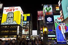 Osaka Night (Mr McCarthy!) Tags: street bridge light people signs sign japan night asian japanese lights asia neon crowd osaka nihon dotonbori