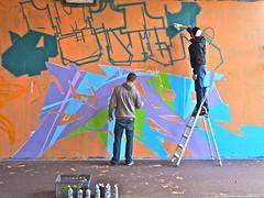 HGP Mini Jam Bink 2013 (Akbar Sim) Tags: holland netherlands workinprogress nederland tunnel denhaag hgp thehague artistsatwork binckhorst agga werkinuitvoering akbarsimonse haagsgraffitiplatform akbarsim hofbinckhorst hgpminijambink
