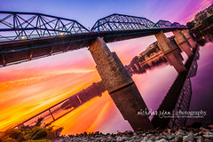 Homecoming (nicholas.ryan | photography) Tags: bridge sunset reflection chattanooga sunrise tennessee south southern walnutstreetbridge riverbank tennesseeriver nicholasryan
