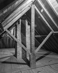 2013JEK0926127.jpg (jeklee) Tags: roof architecture buildings virginia us unitedstates attic williamsburg framing fieldwork newcamera d800 truss timberframing cwf kingpost kingposttruss