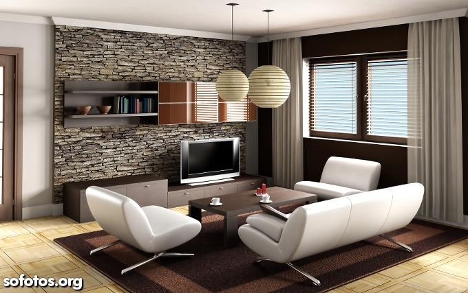 sala decorada bonita