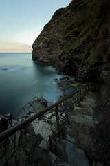 Ladder To The Abyss (Keiran Bernstein) Tags: sea cliff water rock canon river big long exposure cornwall filter lee slate 1022mm stopper 10stop 60d triggertrap