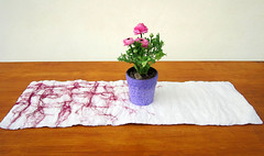 felted table runner -floating spring- (QaraQul) Tags: home table living clothing felting felt mat dining decor runner tabletop houseware qaraqul