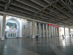Platform at Pyongyang railway station (kuanpl) Tags: northkorea pyongyang