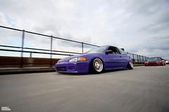 Jake Looney's Purple EH Civic Hatchback (Eric Shell) Tags: eh honda eric purple jake shell stretch poke civic ek looney build dayton h20 2012 slammed camber tuck fitment xxr eshelldesigns