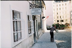 (Gabriela Grossmannová) Tags: vienna old city streets film architecture analog 35mm town beethoven zenit analogue