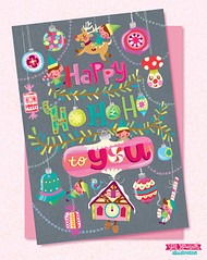 JILL_HOWARTH_HOHO_1B_WEEK1 (Jill Howarth) Tags: christmas mushroom vectorart ornaments card candycane cuckoo elves handdrawnlettering vision:text=086