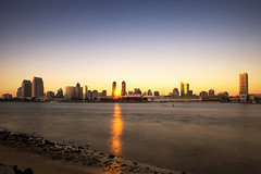 Downtown San Diego (nimus) Tags: california longexposure sunset landscape slowshutter highrise sandiegobay downtownsandiego coronadoisland olympus12mmf2 olympusem5 vision:s