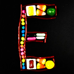 Candy_E (chankdiesel) Tags: candy tasty font letter alphabet glyph typeface typetreats
