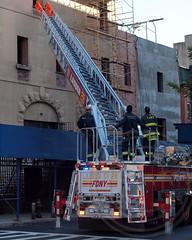 "E069l FDNY ""Harlem Hilton"" Ladder 28, Harlem, New York City (jag9889) Tags: county city nyc ny newyork truck fire harlem manhattan hilton company borough 28 ladder fdny department firefighters seagrave bravest 2013 ladder28 harlemhilton e069 jag9889"