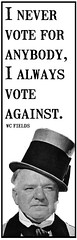 i vote against (andres musta) Tags: portrait against face for truth funny quote joke politics wc fields vote elections