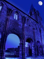 Moonshine Tower (Totenkirche Treysa) (HDR) (Oliver Deisenroth) Tags: tower church ruin kirche arches ruine turm hdr bögen tonemapping olympusstylus1