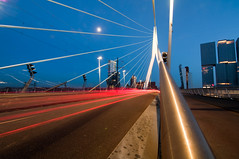 Erasmus (NIELS AHA) Tags: bridge netherlands rotterdam nikon wideangle tokina brug eramus
