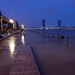 https://www.twin-loc.fr 01/02/2014 08h15 - Bordeaux inondation Grande marée Quai des Marques Garonne overflow Pont Chaban Delmas - Picture Image Photo Photography