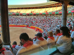 "San Fermín Plaza Toros Bull Ring 06 <a style=""margin-left:10px; font-size:0.8em;"" href=""http://www.flickr.com/photos/116167095@N07/12269635655/"" target=""_blank"">@flickr</a>"