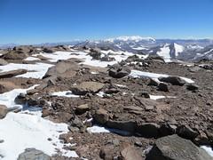 Inca ruins on the summit of Veladero (6420m)