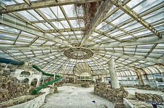 Tropicana, the abandoned swimming pool:  the main swimming pool (PvRFotografie) Tags: holland abandoned pool rotterdam zwembad nederland sigma1224mm hdr tropicana urbex verlaten vervallen verwaarloosd sigma12244556