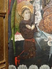 ca. 1440-1460 - 'St. Michael's altarpiece' (School of Valencia or Granada), De Backker Medieval Art (Hoogstraten), BRAFA, Brussels, Belgium (RO EL (Roel Renmans)) Tags: school brussels españa art valencia souls st miguel angel de michael spain san gallery panel gothic bruxelles medieval altar holy spanish granada bruselas michel brussel armour espagne michiel spanje weighing tempera armadura armure rüstung 1440 altarpiece harnas 1450 1460 hoogstraten retable altaarstuk mozarabic brafa backker