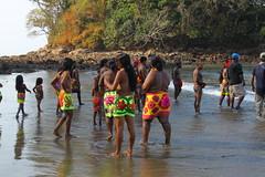 2014-02-17 Embera of Playa del Muerto, Darien Province, Panama (Travel With Olga) Tags: life music food fish men tattoo children boats dance women village rice drum remote panama darien embera nativepeoples playadelosmuertos indigenes amerindians