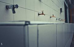 Ahógate. (Soliloquiaa) Tags: school water vintage agua angle sink wide retro wash lavabo lavadero