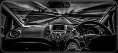 10/52 Fast (Suggsy69) Tags: blackandwhite motion monochrome car speed mono drive blackwhite nikon driving fast driver d5200 52weeksthe2014edition week102014 weekstartingwednesdaymarch52014