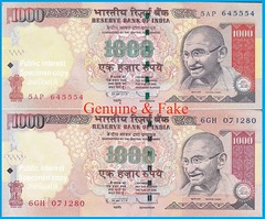 Asli aur nakli note (joegoaukextra3) Tags: india notes goa fake bank replica note currency forged bogus joegoauk conterfeit