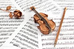 Violin by Gen Hagiwara (ronatka) Tags: origami tissuefoilpaper violin rose genhagiwara gift birthday origamishopcom flowersorigami