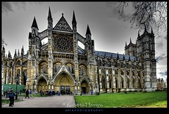 Westminster Abbey. (RobertoHerrero) Tags: old uk england building london tower westminster abbey grass arch gothic panoramic historic crown chucrch mygearandme