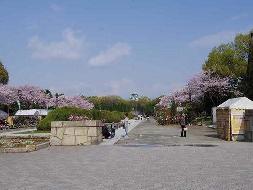 森ノ宮側からの大阪城