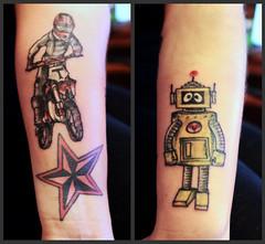 bike nautical star robot tattoo ideas (tattoos_addict) Tags: bike tattoo star robot nautical ideas startattoo