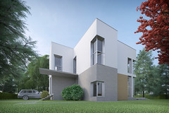 House in Bardovci (Gadjowsky) Tags: house architecture concrete 3d macedonia minimalism visualization rendering 3dsmax vray skopje