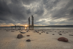Ardersier Beach (Michael Carver Photography) Tags: sunset beach clouds scotland highlands scottish pebbles moray firth ardersier