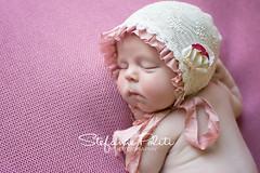 Camille (njmommyof3boys) Tags: pink baby flower girl ties ivory blanket newborn mauve ribbon bonnet ruffle
