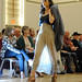 A model walks past the crowd during the Art2Wear show in Talley.