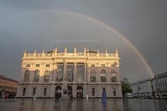 a rainbow of turin (Domenico Petrellese) Tags: italy torino rainbow turin arcobaleno piazzacastello
