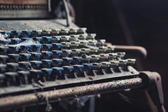 (Subversive Photography) Tags: uk abstract abandoned analog print keys rust ruins printer decay 85mm urbanexploration analogue letterpress derelict urbex danielbarter sonya7r