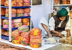 Colorful Turbans at Rajasthan , India (pguruswa) Tags: travel people color jaipur rajasthan turbans incredibleindia