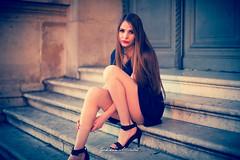 Eleonora Rossetti Milano Model (Gokhan Altintas Photography) Tags: blue light red white sexy rock italian dress milan